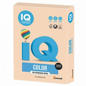 Бумага цветная IQ color, А4, 160 г/м2, 250 л., пастель, темно-кремовая, SA24