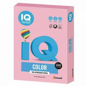 Бумага цветная IQ color, А4, 160 г/м2, 250 л., пастель, розовый фламинго, OPI74
