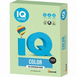 Бумага цветная IQ color, А4, 160 г/м2, 250 л., пастель, зеленая, MG28