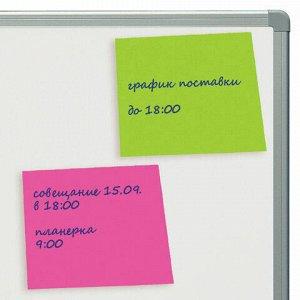 Блок самоклеящийся (стикеры), BRAUBERG, НЕОНОВЫЙ, 76х76 мм, 400 листов, 5 цветов, 122855