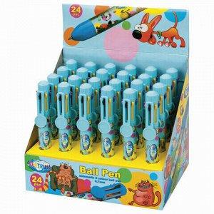 """Ручка шариковая автоматическая CENTRUM """"Animal"""", 8 ЦВЕТОВ, корпус с печатью, узел 0,7 мм, дисплей, 85575"""