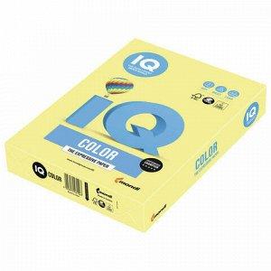 Бумага цветная IQ color, А4, 160 г/м2, 250 л., тренд, лимонно-желтая, ZG34
