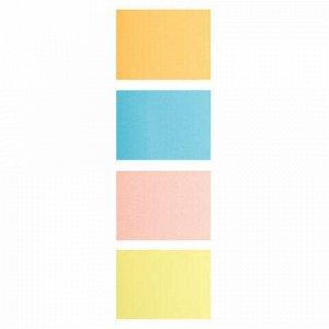Блок самоклеящийся (стикеры), BRAUBERG, НЕОНОВЫЙ, 38х51 мм, 4 цвета х 50 листов, 124807