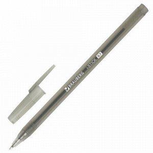 """Ручка шариковая BRAUBERG """"i-STICK"""", ЧЕРНАЯ, пишущий узел 0,7 мм, линия письма 0,35 мм, 143443"""