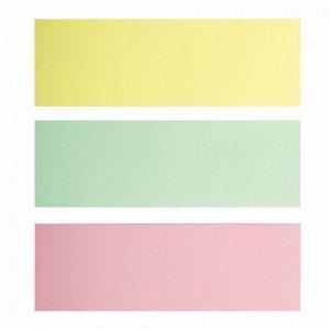 Закладки клейкие BRAUBERG ПАСТЕЛЬНЫЕ, бумажные, 76х25 мм, 3 цвета х 100 листов, ассорти, европодвес, 124812