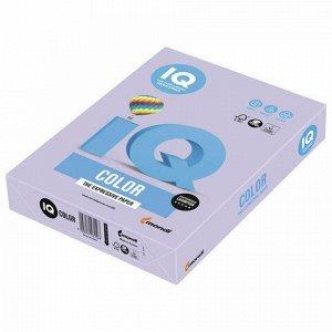 Бумага цветная IQ color, А4, 160 г/м2, 250 л., тренд, бледно-лиловая, LA12