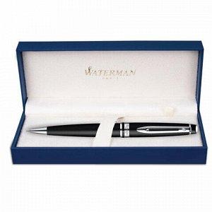 """Ручка подарочная шариковая WATERMAN """"Expert 3 Matte CT"""", черный матовый лак, палладиевое покрытие деталей, синяя, S0951900"""