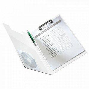 """Папка-планшет LEITZ """"WOW"""", с верхним прижимом и крышкой, A4, 330х230 мм, полифом, зеленая, 41990054"""