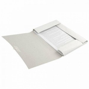 Папка для бумаг с завязками картонная BRAUBERG, 440 г/м2, до 200 листов, 110926