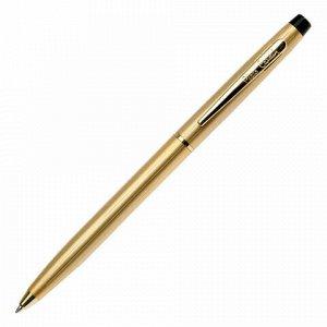 """Ручка подарочная шариковая PIERRE CARDIN (Пьер Карден) """"Gamme"""", корпус латунь, золотистые детали, синяя, PC0808BP"""