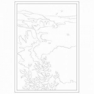 Папка для акварели С ЭСКИЗОМ, БОЛЬШАЯ А3, 10 л., 200 г/м2, BRAUBERG, 110065, 111065