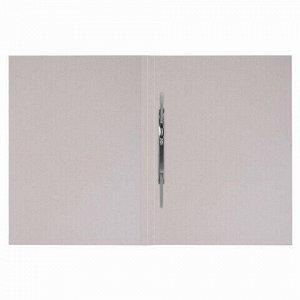 Скоросшиватель картонный мелованный BRAUBERG, гарантированная плотность 320 г/м2, белый, до 200 листов, 121512