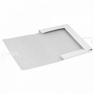 Папка для бумаг с завязками картонная мелованная BRAUBERG, гарантированная плотность 320 г/м2, до 200 листов, 121513
