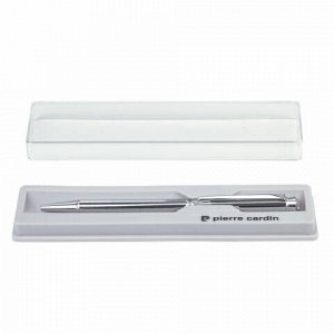 """Ручка подарочная шариковая PIERRE CARDIN """"Crystal"""", корпус серебряный, латунь, хром, синяя, PC0708BP"""