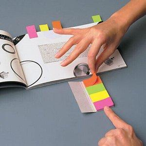 Закладки клейкие POST-IT, бумажные, 20 мм, 4 цвета х 50 шт., 670-4N