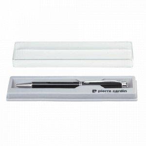 """Ручка подарочная шариковая PIERRE CARDIN """"Crystal"""", корпус черный, латунь, хром, синяя, PC0710BP"""