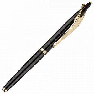 Набор PIERRE CARDIN (Пьер Карден): шариковая ручка + ручка-роллер, корпус черный, латунь, PC0839BP/RP, синий