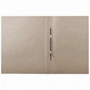 Скоросшиватель картонный мелованный BRAUBERG, гарантированная плотность 440 г/м2, до 200 листов, 128987, 128 987