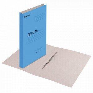 Скоросшиватель картонный мелованный BRAUBERG, гарантированная плотность 360 г/м2, синий, до 200 листов, 121518