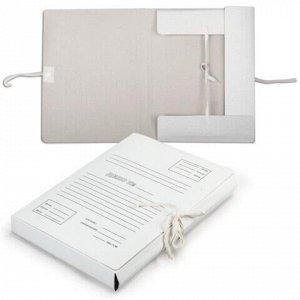 Папка для бумаг с завязками картонная, 40 мм, гарантированная плотность 380 г/м2, 4 завязки, до 400 листов, 122035