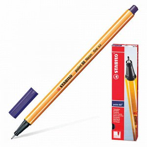"""Ручка капиллярная (линер) STABILO """"Point 88"""", БЕРЛИНСКАЯ ЛАЗУРЬ, корпус оранжевый, линия письма 0,4 мм, 88/22"""