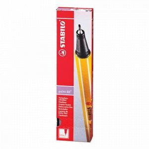 """Ручка капиллярная (линер) STABILO """"Point 88"""", СВЕТЛО-СИРЕНЕВАЯ, корпус оранжевый, линия письма 0,4 мм, 88/59"""