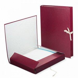 Папка для бумаг архивная А4 (225х310 мм), 30 мм, 2 завязки, бумвинил, до 250 листов, 120253
