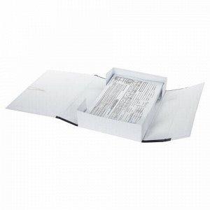 Короб архивный А4 (240х320 мм), 70 мм, 2 завязки, переплетный картон/бумвинил, до 600 л, 121011