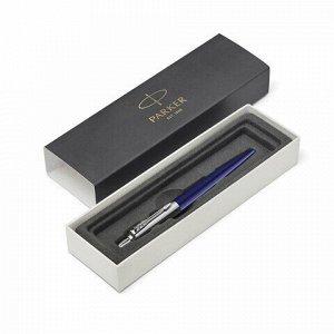 """Ручка шариковая PARKER """"Jotter Plastic CT"""", корпус синий, детали из нержавеющей стали, синяя, R0033170"""