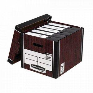 "Короб архивный (285х385х325 мм), с крышкой, гофрокартон, FELLOWES (BANKERS BOX) ""Woodgrain"", FS-00610"