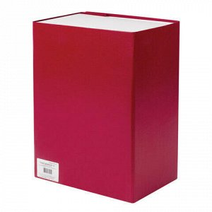 Короб архивный А4 (240х330 мм), 150 мм, 2 завязки, бумвинил, до 1400 листов, бордовый, BRAUBERG, 122806
