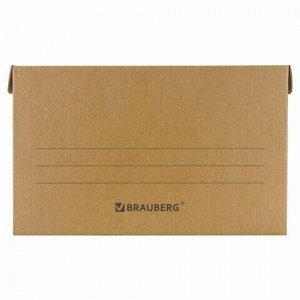 "Короб архивный ""Делопроизводство"" (325х480х295 мм), с крышкой, гофрокартон, BRAUBERG, 126523"