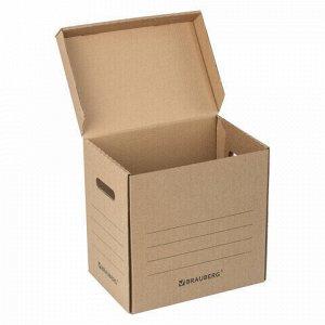 "Короб архивный ""Делопроизводство"" (325х235х325 мм), с крышкой, гофрокартон, BRAUBERG, 129999"