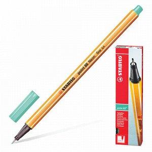 """Ручка капиллярная (линер) STABILO """"Point 88"""", ЗЕЛЕНЫЙ ЛЕД, корпус оранжевый, линия письма 0,4 мм, 88/13"""