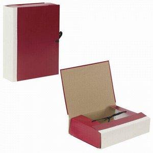 Папка для бумаг архивная А4 (225х310 мм), 80 мм, 4 завязки, бумвинил, корешок - коленкор, 123200