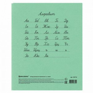 Тетрадь ВЕЛИКИЕ ИМЕНА. Чехов А.П., 12 л. линия, плотная бумага 80 г/м2, обложка тонированный офсет, BRAUBERG, 105716
