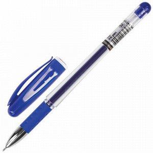 """Ручка гелевая с грипом BRAUBERG """"Geller"""", СИНЯЯ, игольчатый узел 0,5 мм, линия письма 0,35 мм, 141179"""