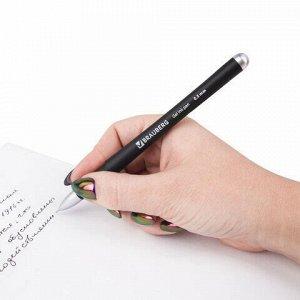 """Ручка гелевая с грипом BRAUBERG """"Impulse"""", ЧЕРНАЯ, игольчатый узел 0,5 мм, линия письма 0,35 мм, 141183"""