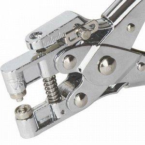 """Дырокол металлический на 1 отверстие для люверса BRAUBERG """"HL-1"""", до 30 листов, диаметр отверстия 5 мм, 227792"""