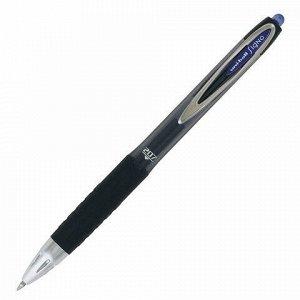 """Ручка гелевая автоматическая UNI-BALL (Япония) """"Signo"""", СИНЯЯ, корпус тонированный, узел 0,7 мм, линия письма 0,4 мм, UMN-207 BLUE"""
