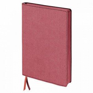 """Блокнот А5 (148x213 мм), BRAUBERG """"Tweed"""", 112 л., гибкий, под ткань, линия, красный, 110965"""