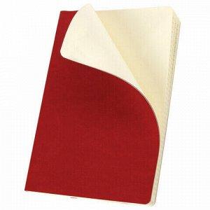 """Блокнот в клетку с резинкой А5 (148x218 мм), 80 л., под кожу красный BRAUBERG """"Metropolis Ultra"""", 111018"""