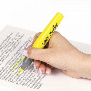 """Текстовыделитель BIC """"Highlighter XL"""", ЖЕЛТЫЙ, линия 1,7-5,1 мм, 891396"""