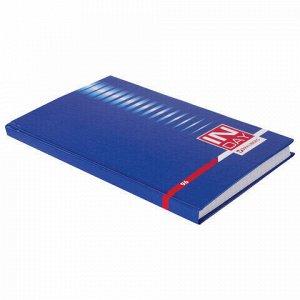 """Блокнот А5 (135х206 мм), 96 л., твердый переплет, ламинированная обложка, клетка, BRAUBERG, """"INDAY blue"""", 121929"""