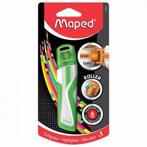 """Текстовыделитель-роллер MAPED (Франция) """"Fluo Pep's"""", ЗЕЛЕНЫЙ, 5 мм, блистер, 746323"""