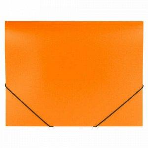"""Папка на резинках BRAUBERG """"Office"""", оранжевая, до 300 листов, 500 мкм, 228084"""