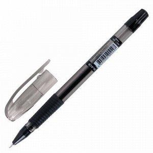 """Ручка гелевая с грипом PENSAN """"Soft Gel Fine"""", ЧЕРНАЯ, игольчатый узел 0,5 мм, линия 0,4 мм, 2420/12"""
