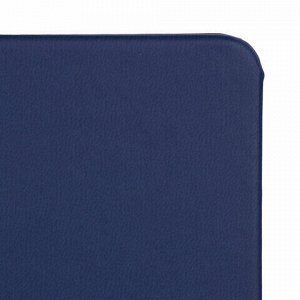 "Блокнот в клетку с резинкой А5 (148x218 мм), 80 л., под кожу темно-синий BRAUBERG ""Metropolis X"", 111031"