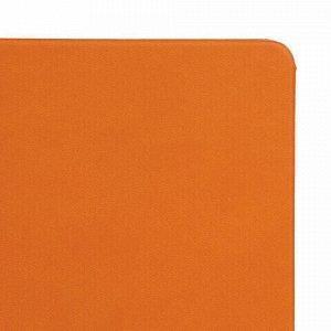 """Блокнот в клетку с резинкой А5 (148x218 мм), 80 л., под кожу оранжевый BRAUBERG """"Metropolis X"""", 111032"""