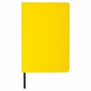 """Блокнот в клетку А5 (148x218 мм), 80 л., под кожу желтый BRAUBERG """"Metropolis Mix"""", 111038"""